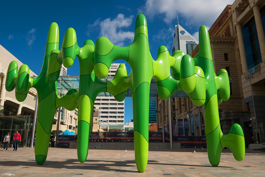 The $1 million dollar sculpture at Forrest Chase in the City of Perth