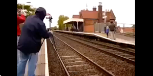 A Train Nearly Spotted A Photographer Its A Dangerous Hobby F