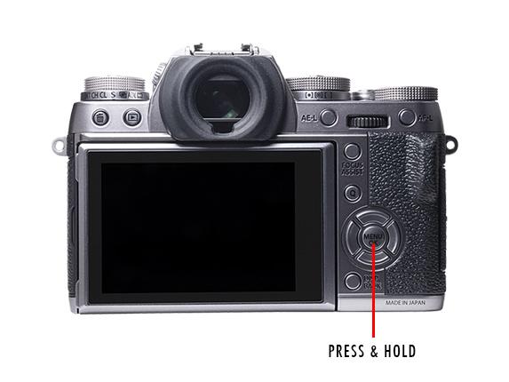 Fujifilm XT1 Press The Menu Button